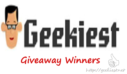 Geekiest giveaway Winners