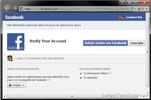 Permission facebook verification spam