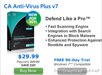 Free CA Anti-Virus Plus V7
