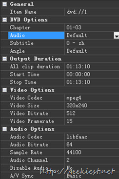customize the Audio and Video options 