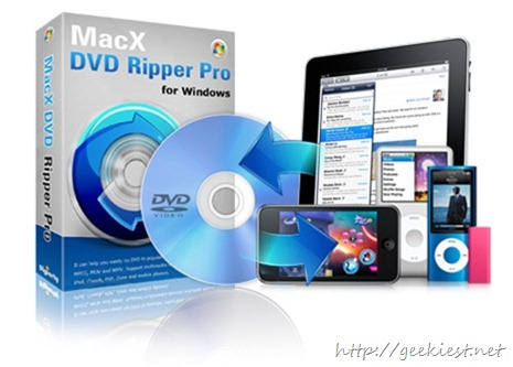 Free full version license giveaway - MacX DVD Ripper Pro